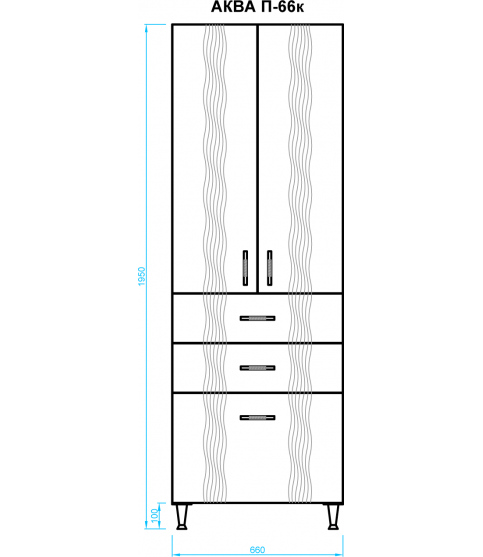 Шкафчик 60 см навесной Тетрис Ш-60 в ванную