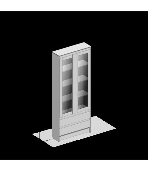 Зеркальный шкаф 90 см Оскар ЗШ-90 3D LED подсветка